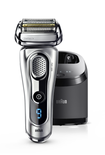 Braun Series 9 9291cc frontal & Clean&Charge Station