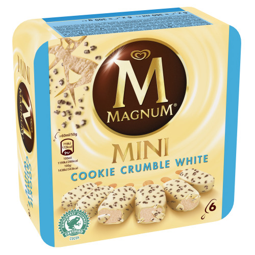 Magnum Mini Cookie Crumble White Multipack