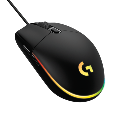 HighResolutionPNG-G203 LIGHTSYNC Gaming Mouse FOB – BLACK-png